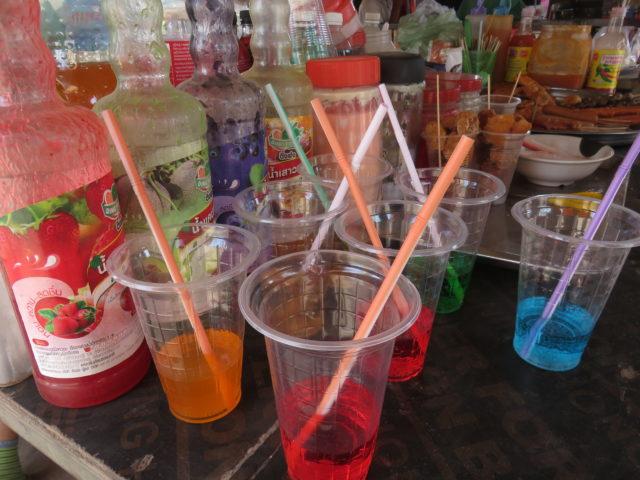 カンボジア売店の飲み物